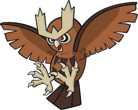 164 Noctowl Art Sprites Amp Wallpapers Spritedex Pok 233 Dex Pldh Net