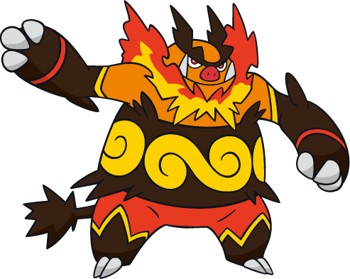 500 Emboar Art Sprites Amp Wallpapers Spritedex Pok 233 Dex Pldh Net